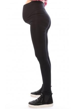 Лосины черные С НАЧЕСОМ для беременных (ем 3198)