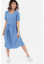 Платье голубое/рисунок для беременных и кормящих..