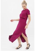 Платье-футболка орхидея для беременных и кормящих (3010)..