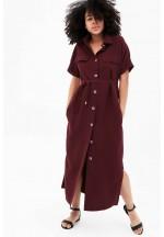 Платье-рубашка бордовое для беременных и кормящих..