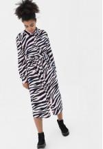 Платье розовый/темно-синий для беременных и кормящих (3027)..