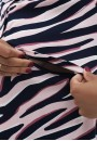 Платье розовый/темно-синий для беременных и кормящих (3027)