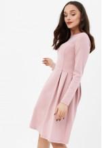Платье со складками пудрово-розовое для беременных и кормящих..