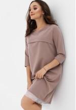 Платье капучино с кружевом для беременных и кормящих (376)..
